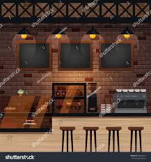 cafe bar coffee shop interior vector stock vector 600436343