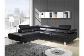 canapé d angle noir et blanc pas cher canapé cuir noir et blanc deco in canape d angle en cuir