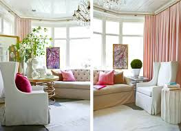 Petal Pink Curtains Living Room White Pink Green Chandelier Gold Accents