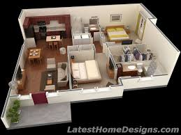 800 Square Feet In Square Meters 1000 Square Feet 3d 2bhk House Plans Small Houses Pinterest