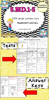 measurement tests 5th grade formative assessment math and