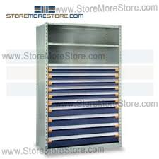 Modular Drawer Cabinet Industrial Shelving With Roll Out Parts Drawers R5shc 7548052