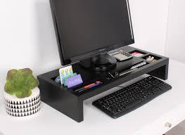 Photo Desk Organizer by Kate And Laurel Briggs Wood Desktop Organizer Monitor Bridge Wayfair