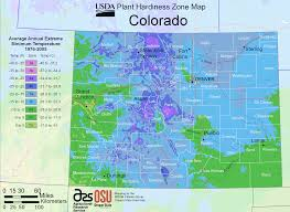 Map Of Colorado State by Colorado Plant Hardiness Zone Map U2022 Mapsof Net