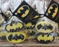 batman baby shower decorations yellow favors black favors chocolate pretzel favors batman