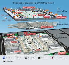 Hong Kong International Airport Floor Plan Guangzhou South Railway Station Train Tickets Map
