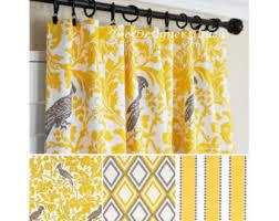 Yellow Window Curtains Yellow Curtains Yellow Grey Window Curtain Nautical