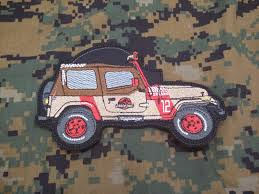 jurassic park car toy jurassic park jeep hook and loop military morale patch