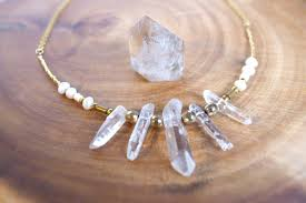 natural quartz crystal necklace images Natural quartz crystal necklace jpg