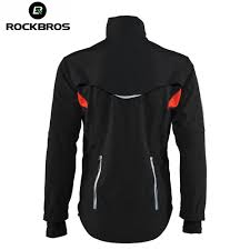 mens thermal cycling jacket rockbros winter fleece cycling sets suits bicycle thermal jacket