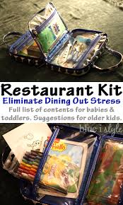 organizing with style restaurant kit for eating out with little