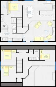 country barn floor plan living space above stalls 30x40 garage
