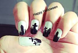 nail art easy halloween nail art step by youtube maxresdefault