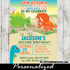 dinosaurs birthday invitation chalkboard personalized d1