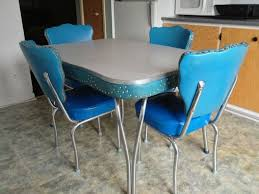 Retro Kitchen Table Sets Retro Chrome Kitchen Table And Chairs Best Tables