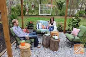Dirt Backyard Ideas Backyard Makeover Pergola With Bohemian Style The Home Depot