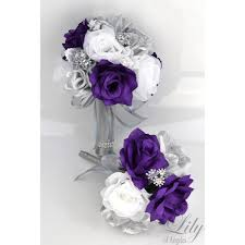 Purple And Silver Wedding Purple Silver White Featured