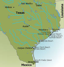 Texas beaches images Texas beaches map texas gulf coast map jpg