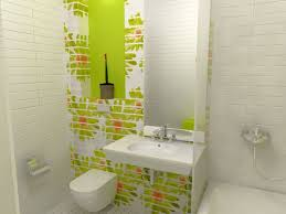 white and green bathroom designs for fresh and clean look