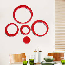 compare prices on home stickers living room online shopping buy 1 set wooden 3d circles ring wall stickers indoor diy living room wall home decor tv