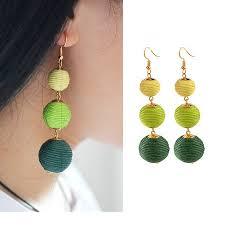 threaded earrings inspired ombre threaded drop earrings
