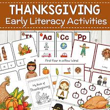 thanksgiving preschool literacy learning activities by