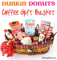 Coffee Gift Baskets Dunkin U0027 Donuts Coffee Gift Basket The Frugal Girls
