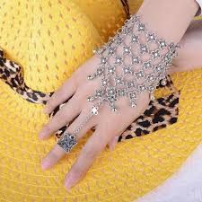 bracelet hand chain images Asymmetric mens fashion hamsa fatima finger slave hand chain jpg