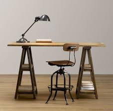 Diy Rustic Desk 12 Rustic Inspired Diy Sawhorse Tables And Desks Shelterness