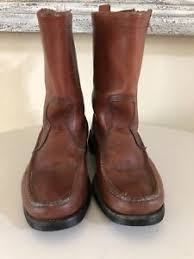 s boots size 9 moccasin brown leather pull on s boots size 8 9 ebay