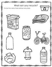 recycle worksheet sustainability recycling and worksheets