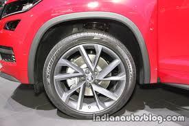skoda kodiaq sportline skoda kodiaq sportline alloy wheel at iaa 2017 indian autos blog
