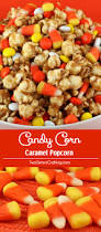 popcorn for halloween candy corn caramel popcorn two sisters crafting