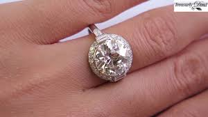 art deco antique vintage 4 72ct old euro diamond platinum