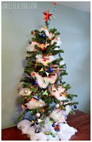 christmas themed trees christmas lights decoration