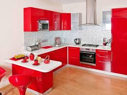 Red Kitchen Countertop - awesome black and red kitchen decor and red and black kitchen