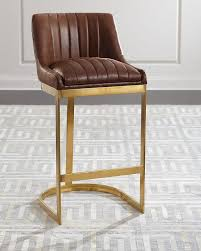 carrie faux leather ivory bar stool