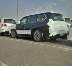 lexus lc spy 2016 lexus lx facelift spotted in the metal for first time