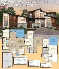 plan 85213ms angular modern house plan with master on main
