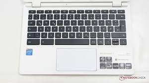 acer chromebook keyboard light acer chromebook 11 cb3 111 review notebookcheck net reviews
