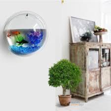 idee deco aquarium plant wall hanging bubble aquarium bowl fish tank aquarium home
