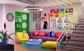 colorful and fancy living room designs
