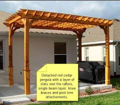 How Much Does A Pergola Cost by Attached Pergola Plans With Photos Home Exterior Design