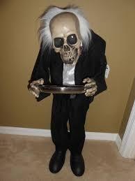 Butler Halloween Costume Halloween 3 Foot Standing Bobble Head Skeleton Butler Led Eyes