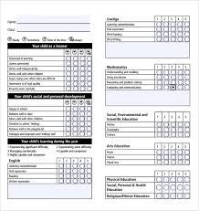 report card format template report card template 29 free word excel pdf documents