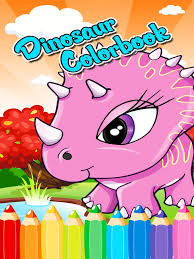 cute dinosaur coloring book drawing pages good learning