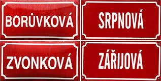 jména ulic