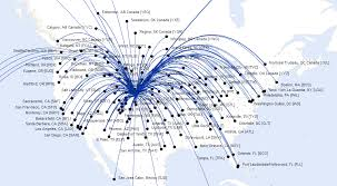 swa route map airlines route map america from denver