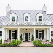 Black Shutter White Home Exterior Painted In Sherwin Williams Greek Villa Black