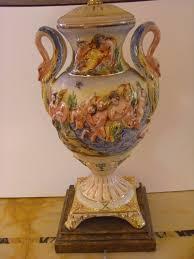 Capodimonte Vases Antique Decorative Capo Di Monte Vase Style Lamp For Sale Antiques Com